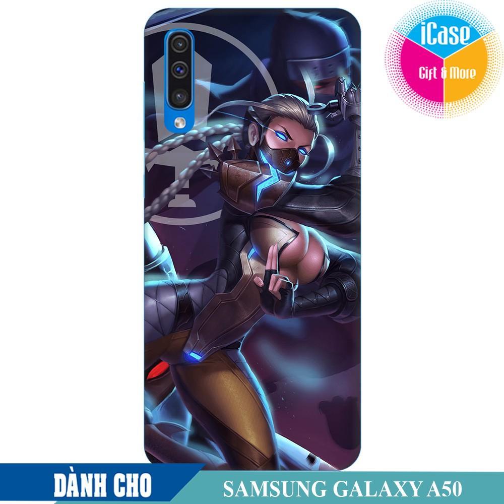 Ốp lưng nhựa dẻo dành cho Samsung Galaxy A50 in hình Airi Cấm Vệ Nguyệt Tộc