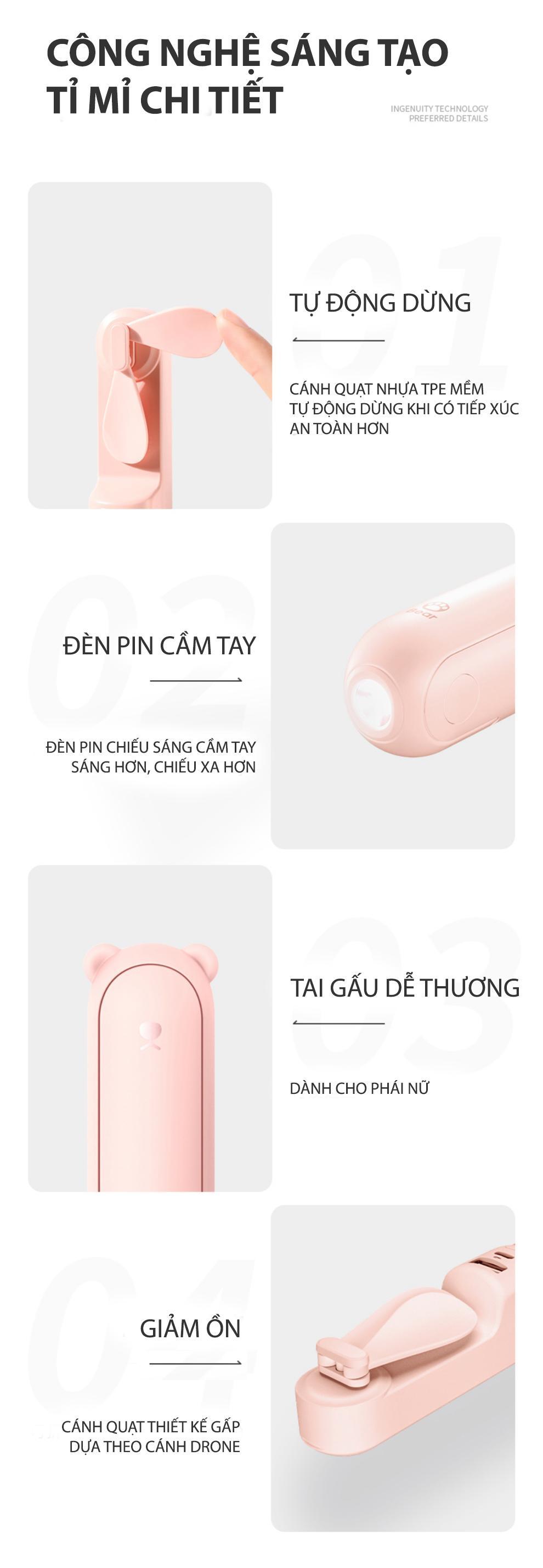 c2eb8b5126edb3a3247b0a09577d288b - Xiaomi Bear Mini Fan cao thủ về pin trong làng quạt cầm tay