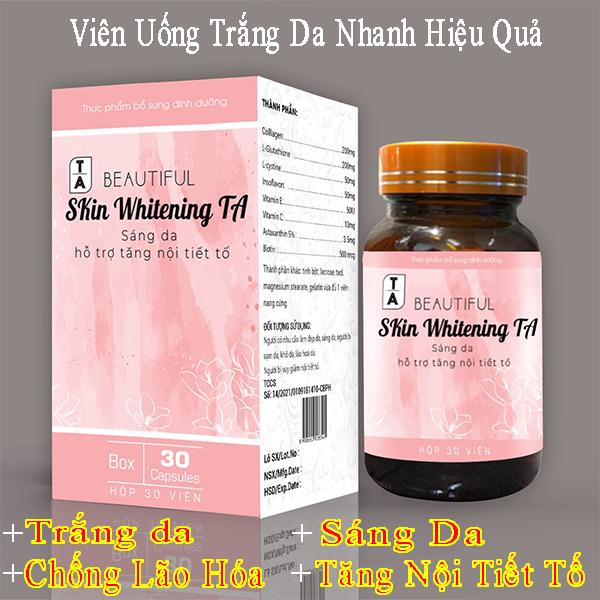 [ Chính Hãng ] Viên Uống Trắng Da Nhanh Hiệu Quả - Giúp da sáng mịn trắng hồng, làm giảm quá trình lão hóa da, hết nám da, tàn nhang , Tăng nội tiết tố 1