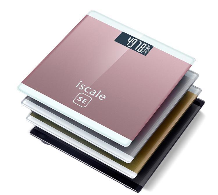 Cân điện tử Iscale SE (màu vàng) dễ dàng mang theo máy cảm biến áp lực độ nhạy cao quản lý cân nặng sức khỏe của bạn nhỏ gọn màn hình LED hiển thị chữ rõ ràng thích hợp cho mọi gia đình