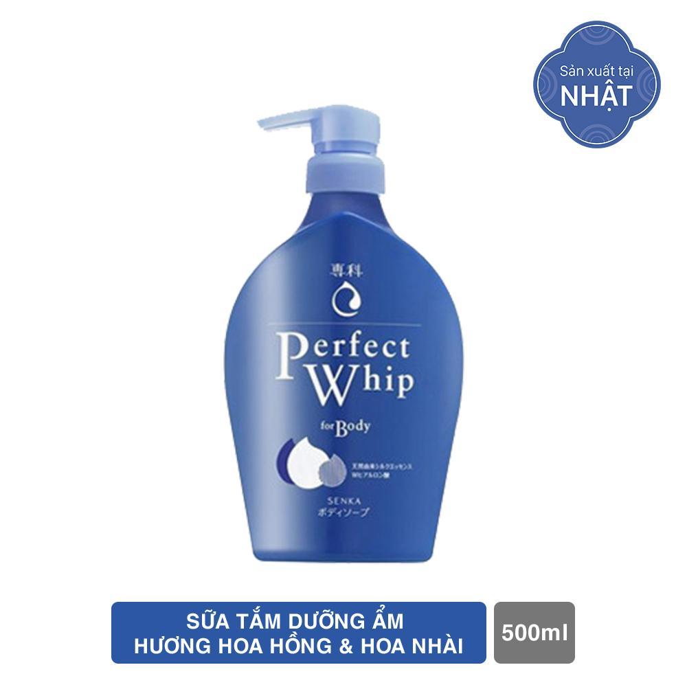 Sữa tắm dưỡng ẩm Senka Perfect Whip - Hương Hoa Hồng & Hoa Nhài 500ml