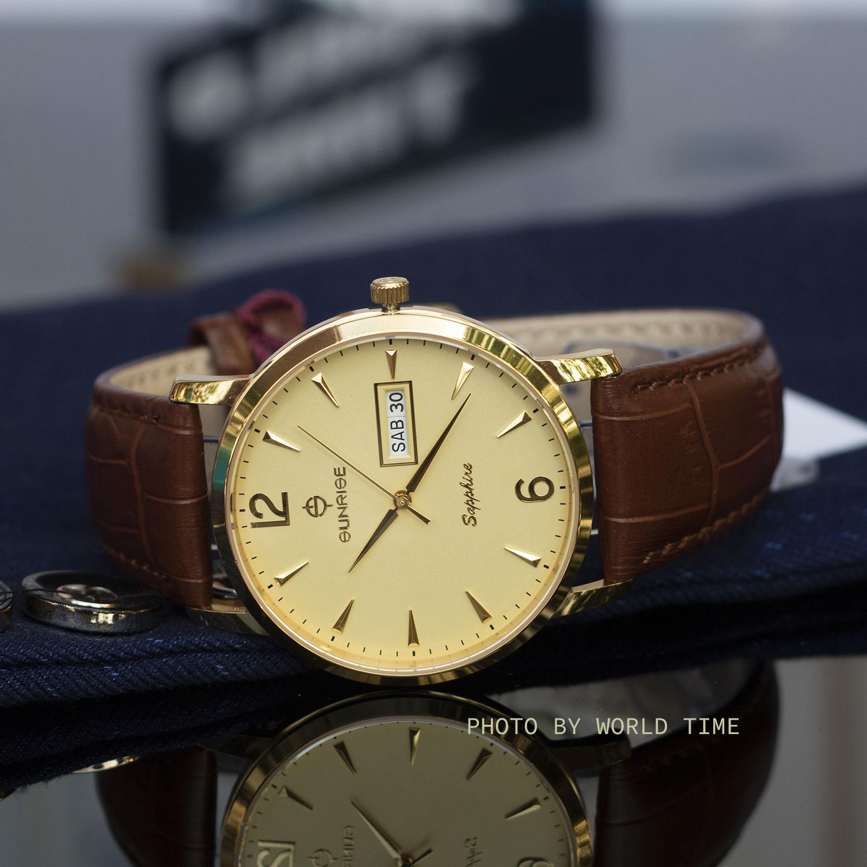 Hình ảnh Đồng hồ thời trang Nam Sunrise DM778SWA- SMT [Full box],kính Sapphire chống xước, chống nước, dây da cao cấp, bảo hành 3 năm.