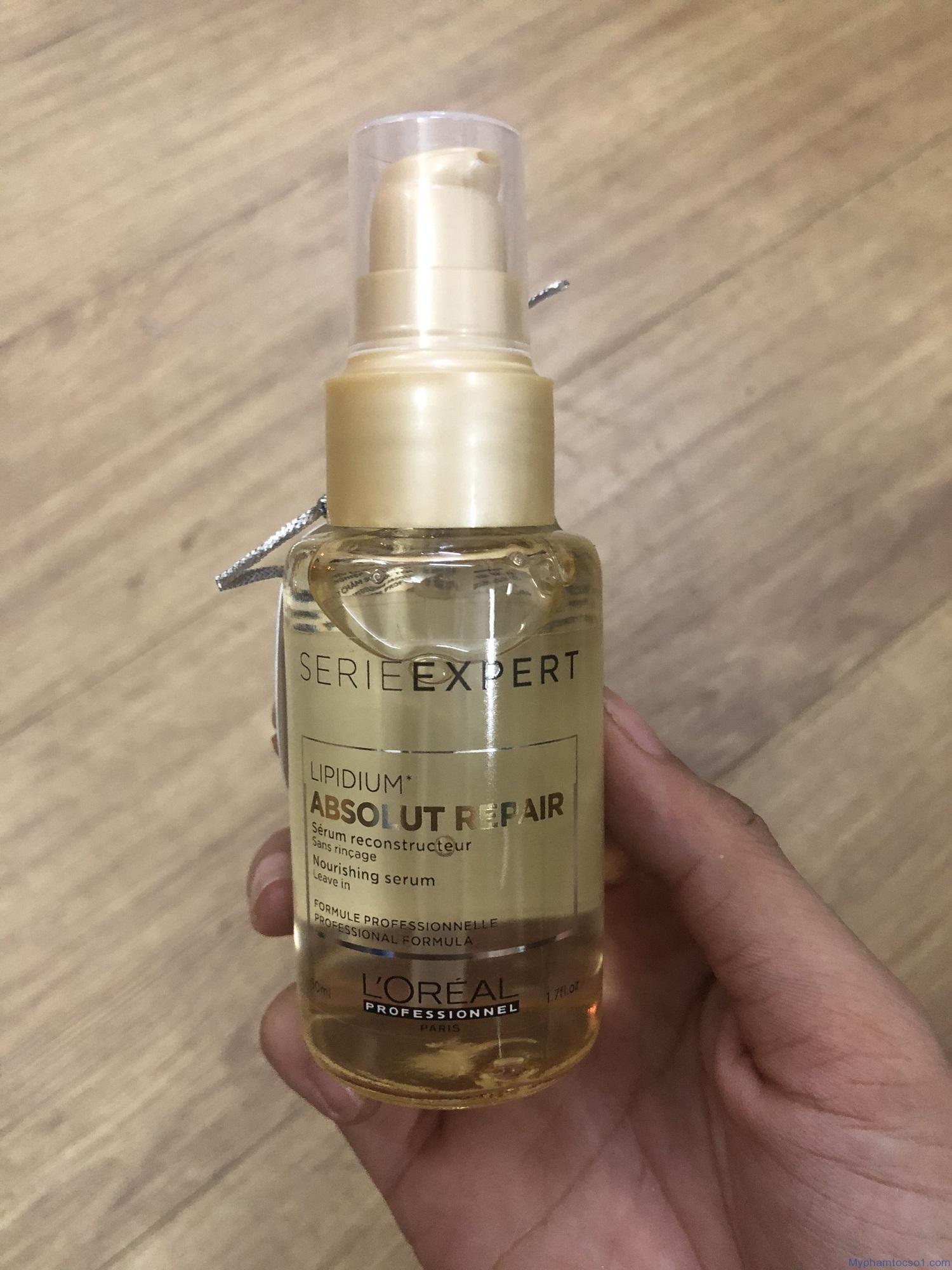 [HCM]Tinh dầu serum Loreal Absolut Repair Lipidium phục hồi tóc 3 tác động 50ml 1