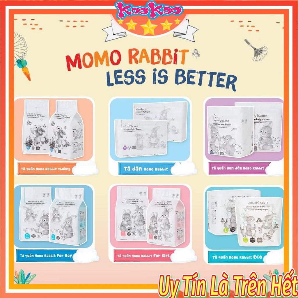 Bỉm Momo Rabbit Bỉm Momo Rabit Nội Địa Hàn Quốc Dán/Quần Size S50/M44/L40/XL36 và L28/XL22/XXL18
