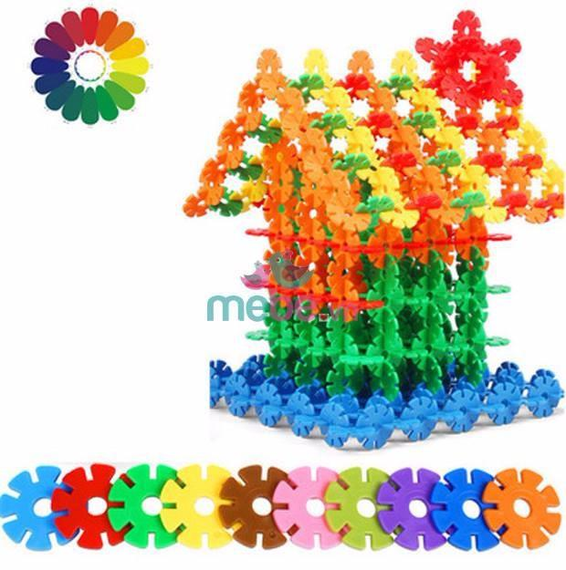 Đồ chơi lắp ghép thông minh 1200 cái hình hoa sáng tạo cho bé