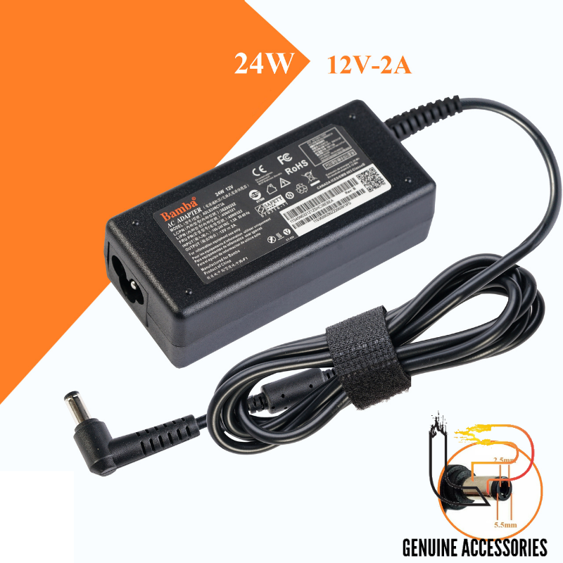 Adapter sạc 12V - 2A Jack 5.5 x 2.5mm - ADAPTER LCD 12V - 2A