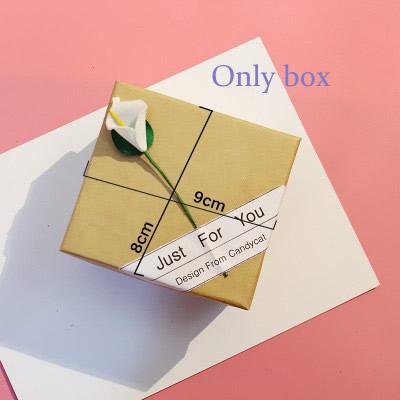 [Hot Bán] Eooshop Tiên hồng Gift Box trí Box Bracelet Box Xem Box Birthday Gift Box 2021 New 3