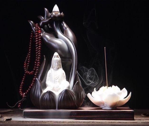 Hình ảnh Thác Khói Trầm Hương ( Phật Thủ Quan Âm) Tặng 25 Nụ Trầm