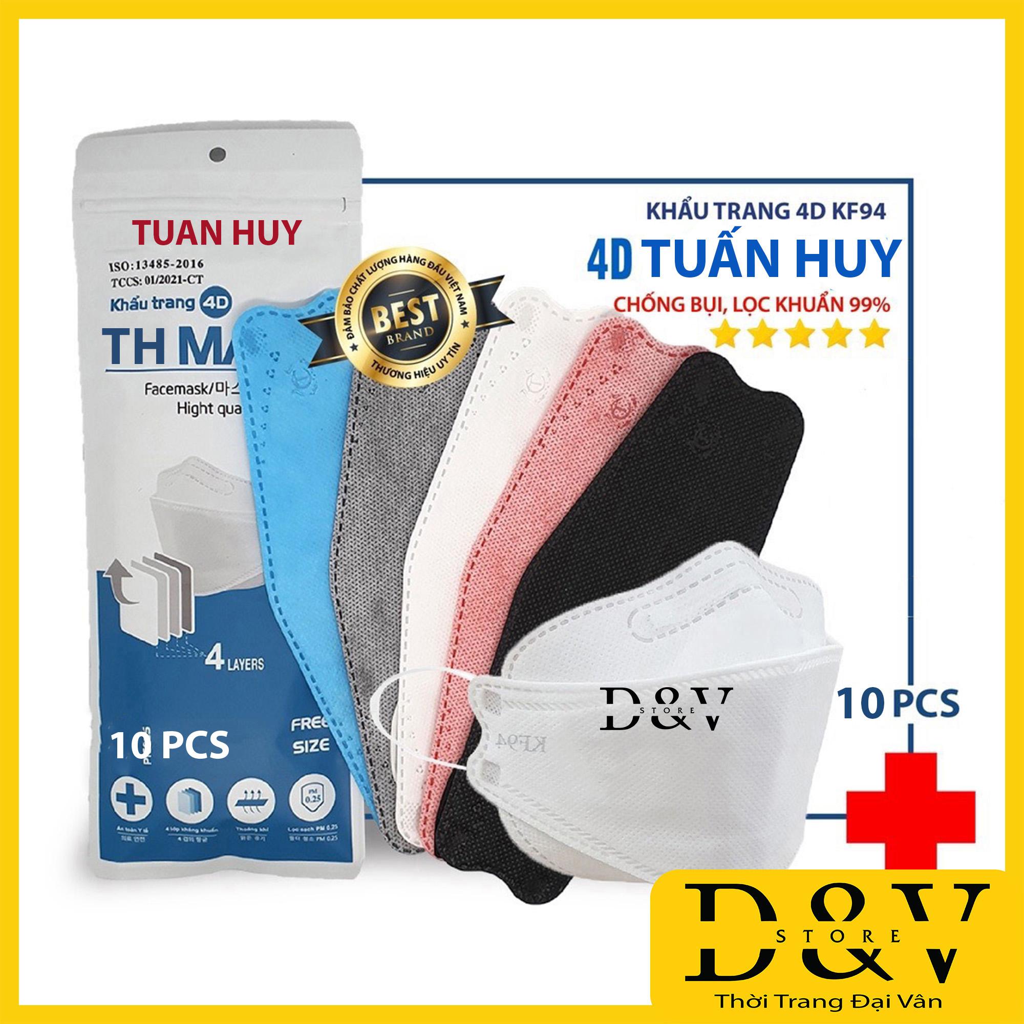 [Gói 10 cái] Khẩu trang y tế 4D Mask KF94 kiểu Hàn Quốc 4 lớp  kháng khuẩn, kháng bụi mịn lên đến 95%, đạt tiêu chuẩn ISO khẩu trang y tế, khẩu trang 3d mask, khẩu trang 3d land mask