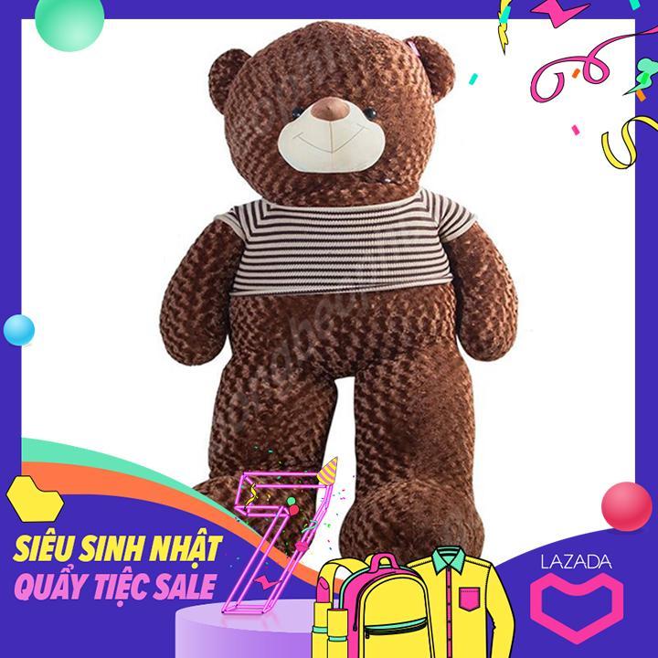 Hình ảnh Gấu bông teddy áo len cao cấp, khổ vải 2M, Shop Gấu Bông Béo Phì, món quà ý nghĩa chuyên dành cho việc tỏ tình, nhân dịp sinh nhật, quà tặng đồ chơi bằng bông an toàn cho bé