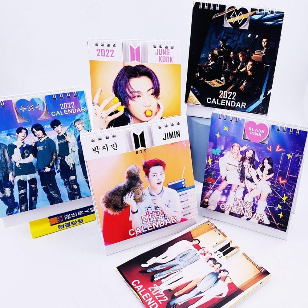 PIT ORPHAN28AN5 2022 Mini Fashion JIMIN JK K-pop BT21 Photo Album Scheduler Bangtan Boys BTS Desktop Calendar Agenda Organizer