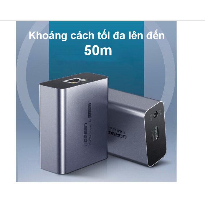 Bộ chuyển HDMI qua cáp mạng lên đến 50m hỗ trợ Full HD 1080P UGREEN CM196 50739