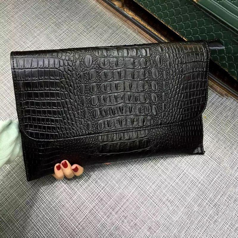 Túi đeo chéo kiêm CLUTCH cầm tay da thật dập vân cá sấu sang trọng PIJ003 (Đen)