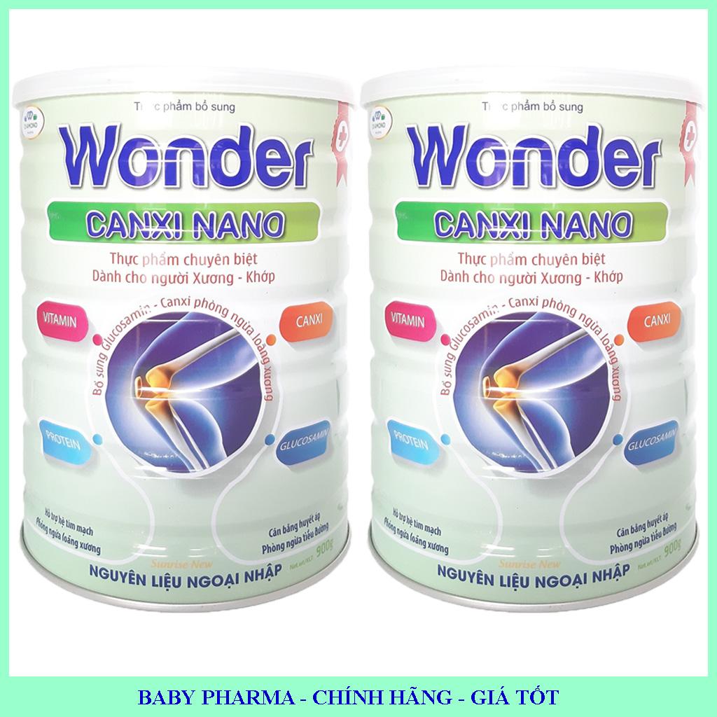 [Combo 2 lon] Canxi Nano cho người trung niên và cao tuổi Wonder Canxi Nano lon 900g