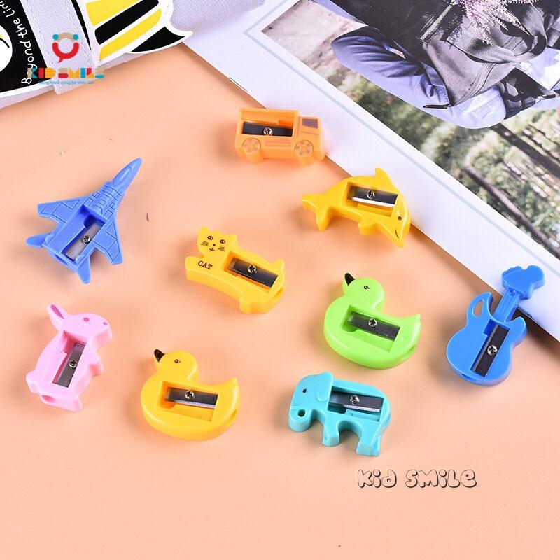 Đồ dùng học tập trẻ em gọt bút chì các hình con vật, phương tiện giao thông. Thiết kế ngộ nghĩnh, dễ thương chất liệu nhựa bền đẹp. 6