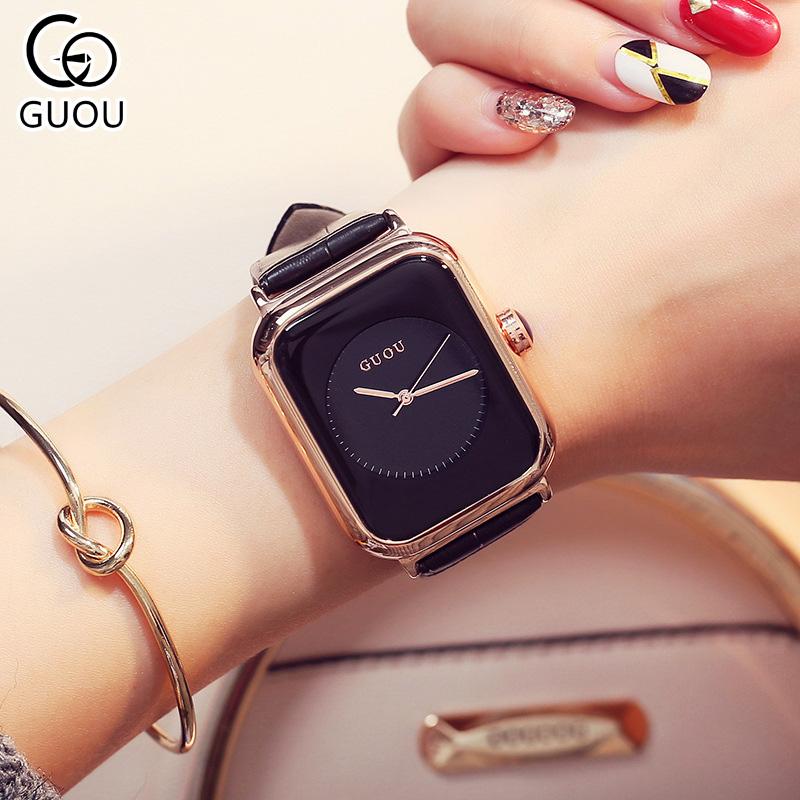 Đồng hồ Nữ GUOU Dây Mềm Mại đeo rất êm tay, Chống Nước Tốt, Bảo Hành Máy 12 Tháng Toàn Quốc 10
