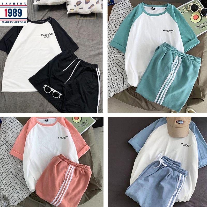 bộ thể thao nam nữ _unisex kiểu dáng hàn quốc nam nữ đều mặc được thỏa mái rất xinh kute đáng yêu ,thời trang 1989 1