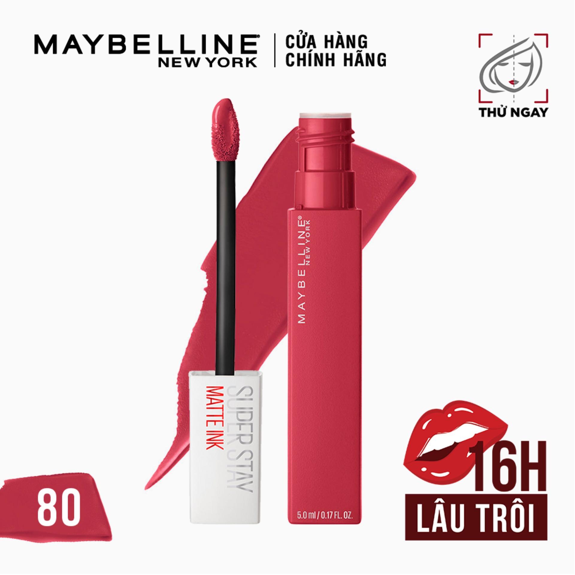 Son Kem Lì 16h Lâu Trôi Maybelline New York Super Stay Matte Ink Lipstick 5ml