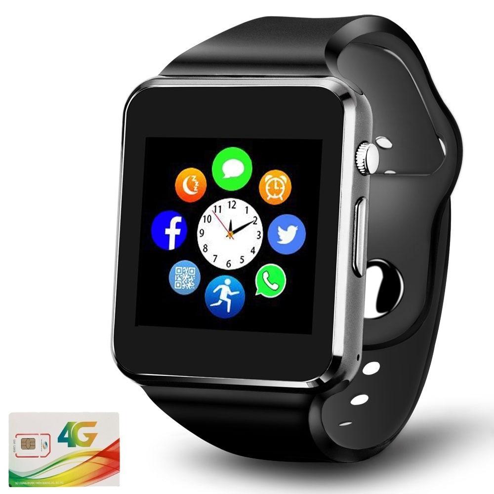Đồng hồ thông minh Vikopa A1 màn hình cảm ứng 1.54 inch TFT LCD nghe, gọi, báo tin nhắn qua bluetooth + sim nghe gọi màu đen