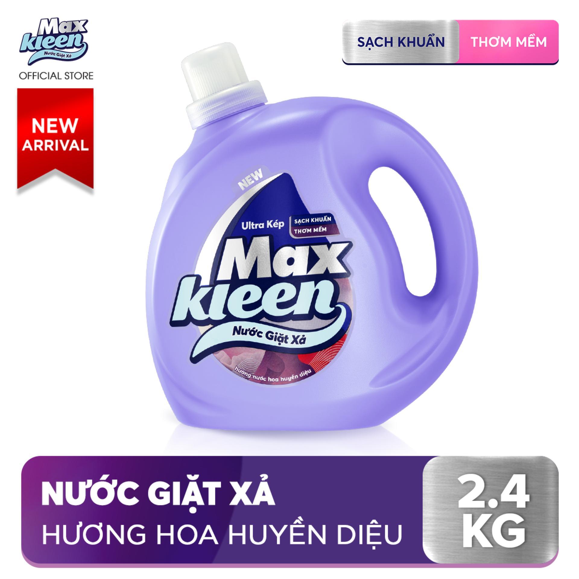 Chai Nước Giặt Xả Maxkleen Hương Nước Hoa Huyền Diệu (2.4kg)