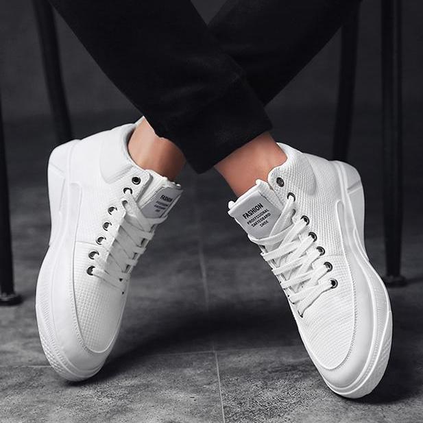 [ GIÁ TẠI KHO ] ✅ Giày sneaker Da Cao Cổ Nam G24 ( TRẮNG ) Thể Thao/Giày Nam hiện đại , cá tính, đẹp độc lạ, chất thoáng mát, phong cách Hàn Quốc mẫu mới nhất - TỔNG KHO GIẦY NHẬP KHẨU