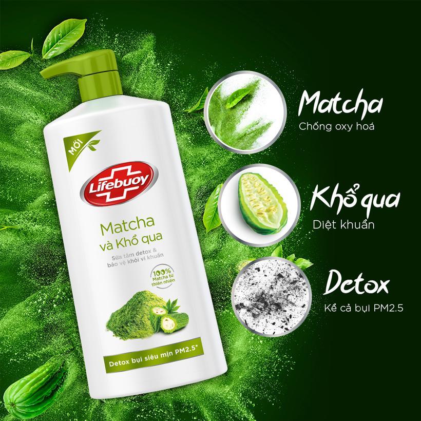 Sữa tắm Detox Lifebuoy - Trà Xanh & Khổ Qua (850g)   Lazada.vn
