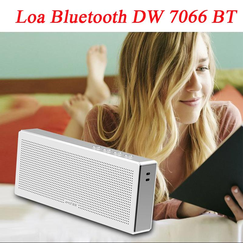 Loa Bluetooth DW 7066 BT-Thiết Kế Gọn Nhẹ-Có Tính Di Động Cao-Lớp Vỏ Thiết Kế Chắc Chắn-Chống Trầy Xước, Chống Va Đập Tốt-Âm Thanh Sống Động, Bass Căng Thiết Kế Tự Mẫu Đài FM-1 ĐỔI 1-Bảo Hành Uy Tín Bởi TECH FUTURE
