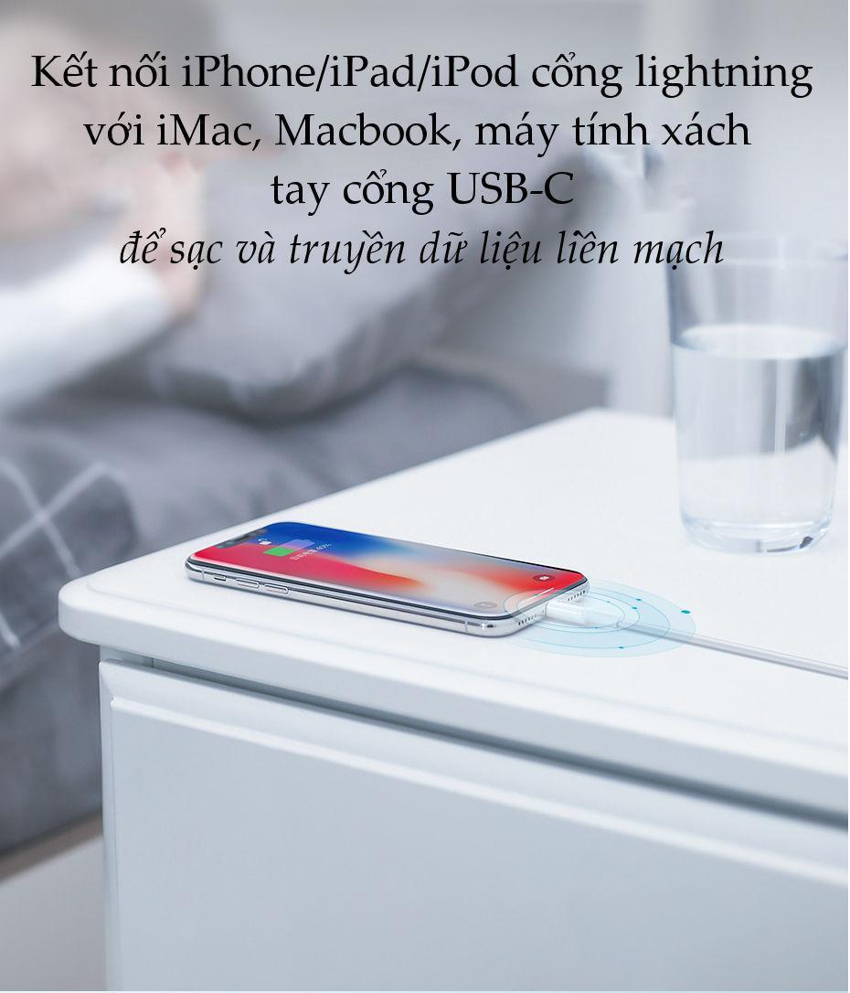Cáp sạc nhanh USB-C sang Lightning MFI UGREEN US171 - Sạc nhanh 50% trong 30 phút cho iPhone 11 Pro Max / iPhone Xs Max / iPhone XR / iPhone 8 Plus, dài từ 0.25 - 2m