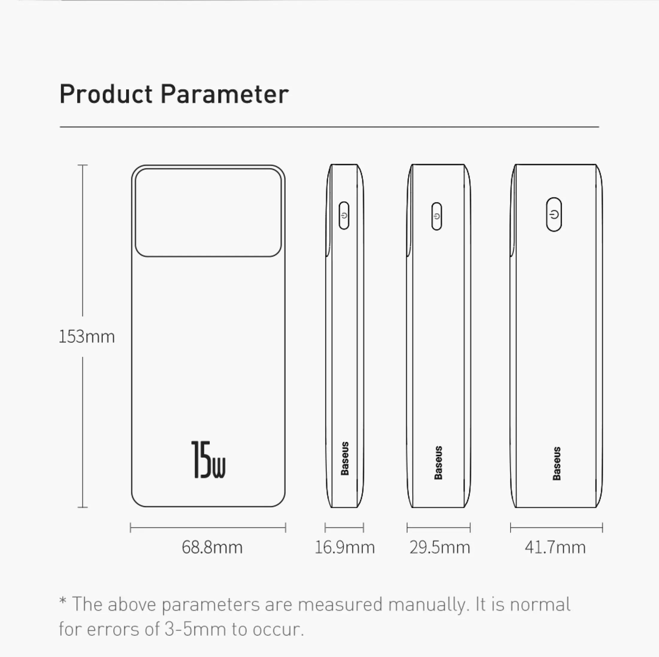 Pin sạc dự phòng Baseus dung lượng 10000mAh công suất 15W hoặc 20W, màn hình LED hiển thị, sạc nhanh QC, PD cho iPhone, Samsung, Xiaomi,....-Phân phối chính hãng tại Baseus Việt Nam 11