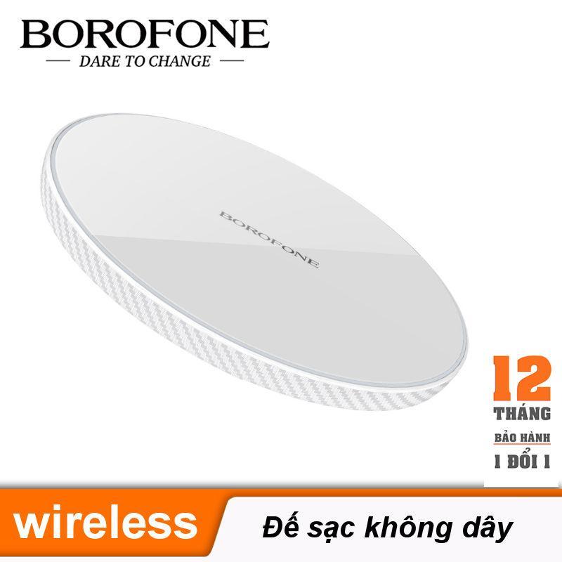 Bộ sạc đế sạc không dây hỗ trợ QI, công suất lên đến 10W dùng cho điện thoại máy tính bảng BOROFONE BQ2 AirTouch - Bảo hành 12 tháng