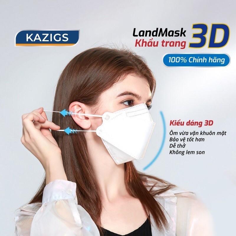 Khẩu trang 3D Land Mask 1 Túi 6 chiếc