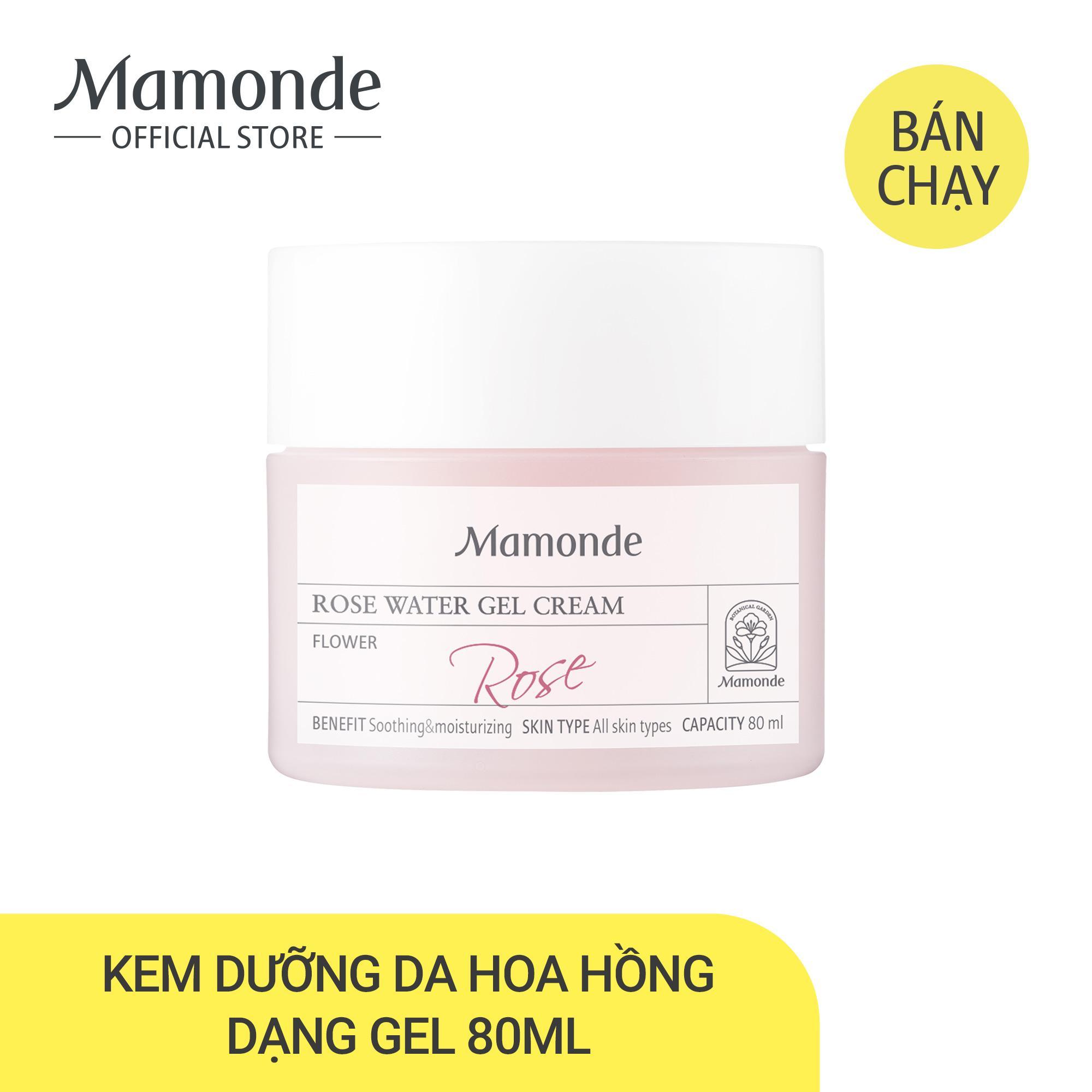 Kem dưỡng ẩm dịu da dạng gel hoa hồng Mamonde Rose Water Gel Cream 80ml