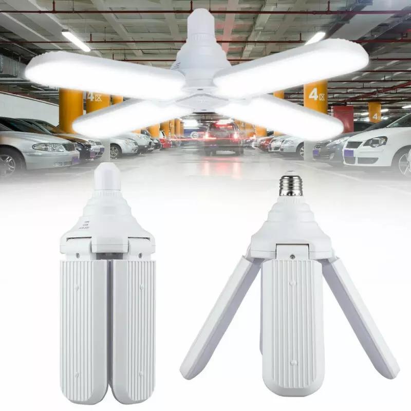 Đèn LED cánh quạt đuôi E27 - hàng chuẩn 60W gồm 4 cánh xếp tùy ý - ánh sáng trắng siêu sáng [phù hợp với mọi không gian nội ngoại thất - bảo hành 2 năm]