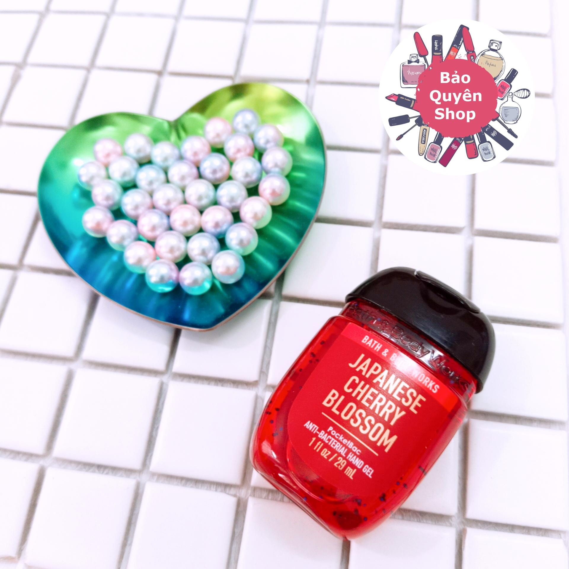 Gel rửa tay khô mini Bath & Body Works - Japanese Cherry Blossom - PocketBac Anti-bacterial Hand Gel 29mL