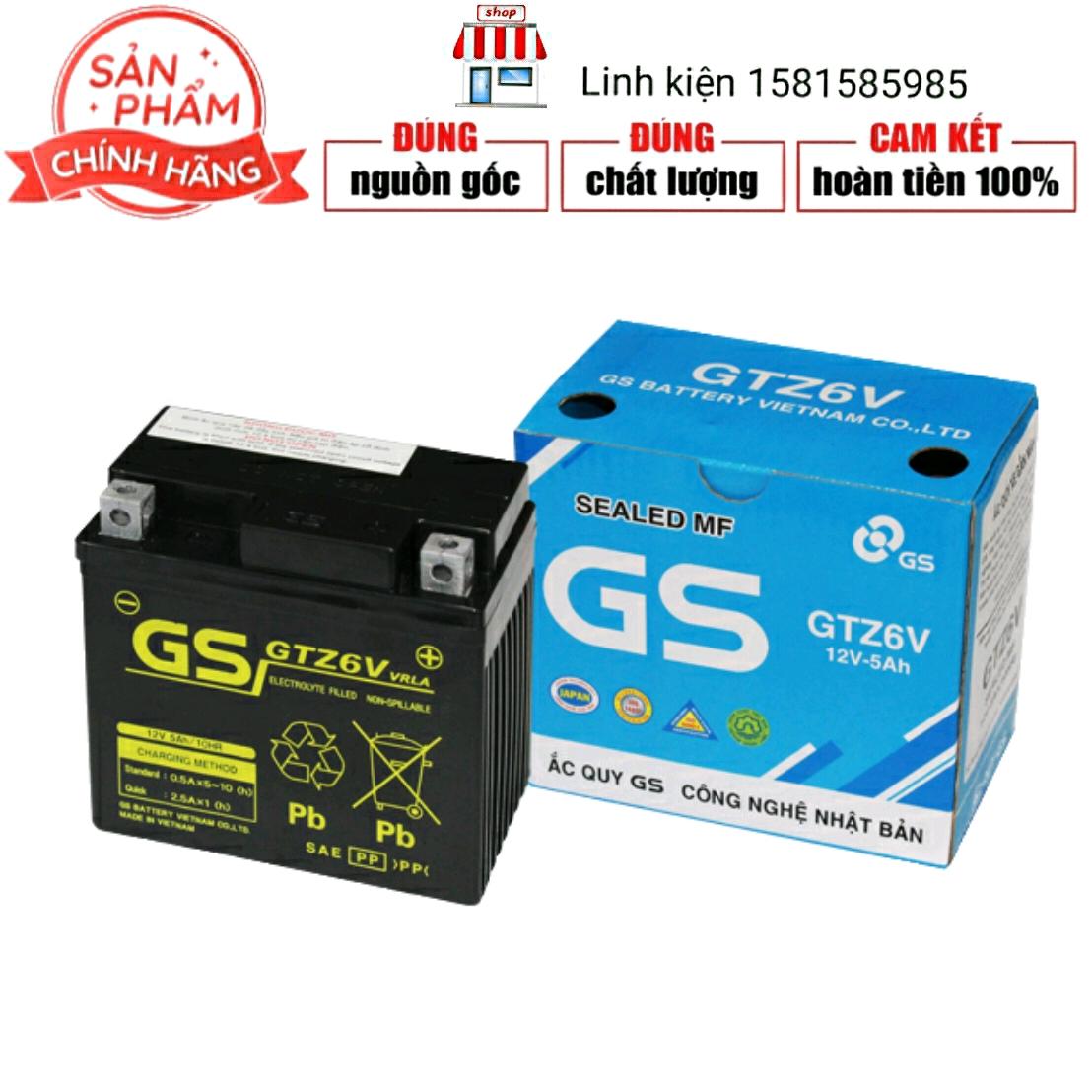 BÌNH ẮC QUY GS GTZ6V 12V-5A