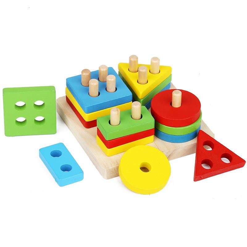 Đồ Chơi Montessori Bảng Chuỗi Thả Hình Bằng Gỗ Giúp Bé Tư Duy Logic (Shape  String) | Lazada.vn