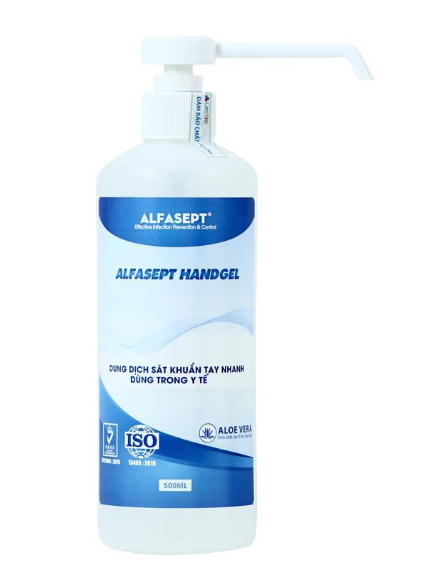 Dung dịch sát khuẩn tay nhanh ALFASEPT HAND GEL - Tinh chất lô hội