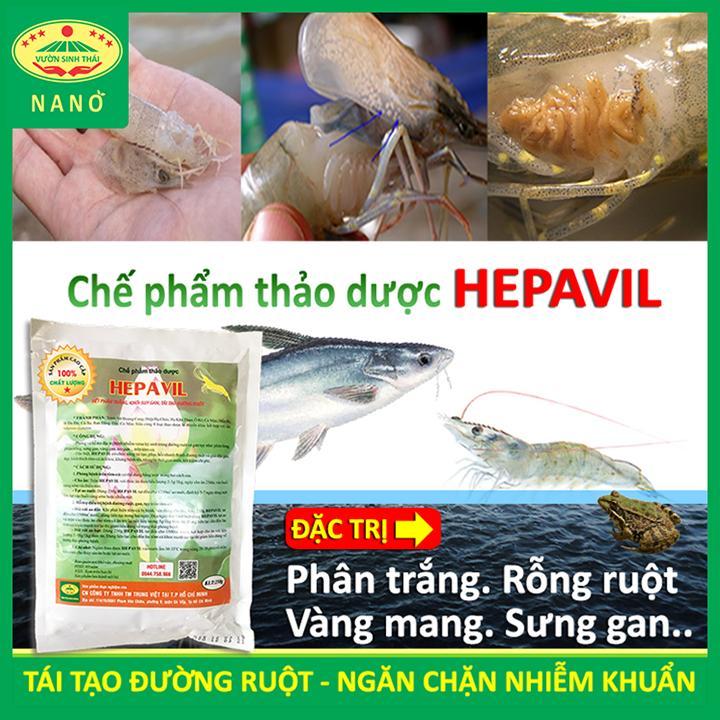 Hình ảnh Chế phẩm sinh học Thảo Dược chuyên dùng Tôm, Cá, Ếch bị rỗng ruột, phân trắng, vàng mang, sưng gan - Hiệu quả ngay sau 5-7 ngày - Chiết xuất 100% từ Thiên Nhiên - HEPAVIL