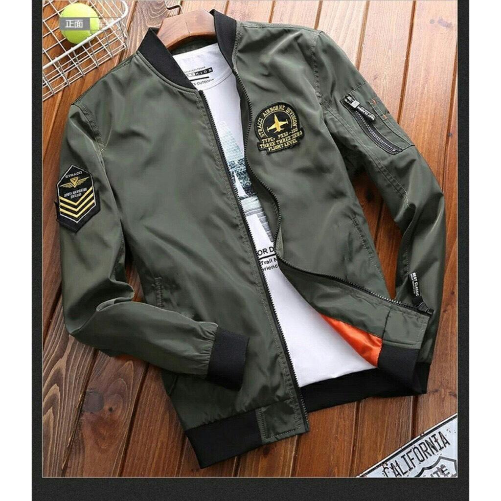 Áo khoác nam kaki thêu logo ngực và tay, túi khóa phối tay hàng đẹp chuẩn shop N019-NX