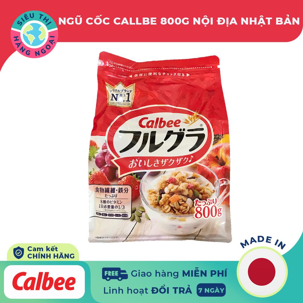Hình ảnh [NỘI ĐỊA NHẬT] Ngũ cốc trái cây Calbee màu đỏ 800g [thực phẩm có giá t rị dinh dưỡng cao, giúp bổ sung chất xơ và chất sắt cho cả gia đình] Hàng Nhật Bản (được bán bởi Siêu Thị Hàng Ngoại)