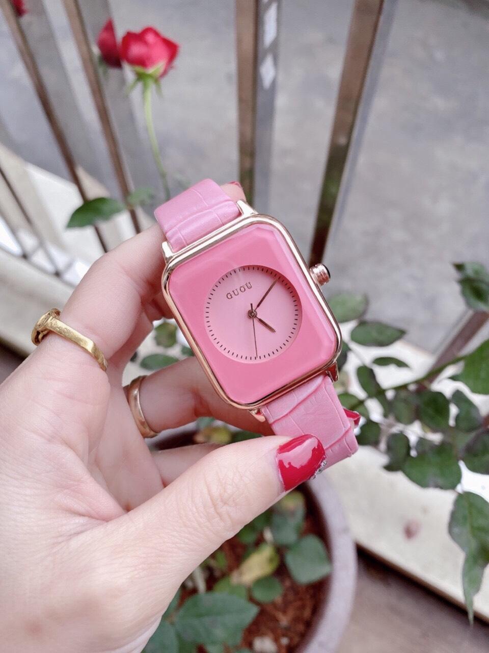 Đồng hồ Nữ GUOU Dây Mềm Mại đeo rất êm tay, Chống Nước Tốt, Bảo Hành Máy 12 Tháng Toàn Quốc 22