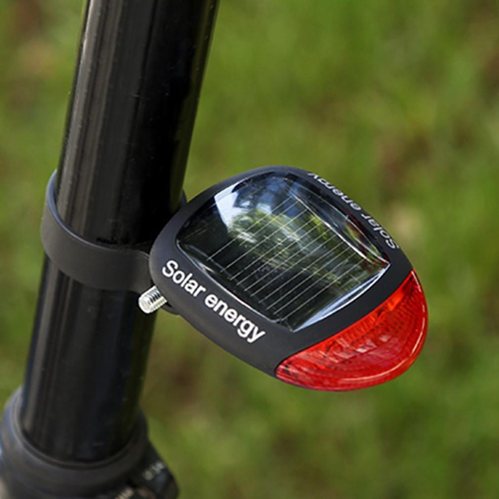 Đèn đuôi xe đạp - Đèn Led năng lượng mặt trời gắn đuôi xe đạp chế độ
