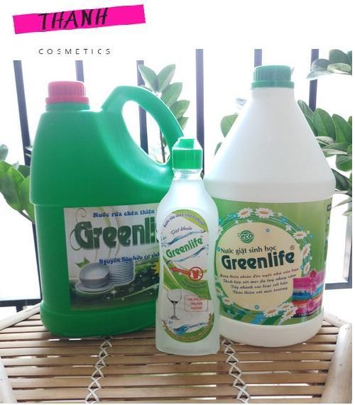 Nước Giặt Sinh Học GREENLIFE - Nước giặt dịu nhẹ - Nước giặt an toàn cho da tay - Nước giặt hương thơm dịu nhẹ - Safe washing liquid