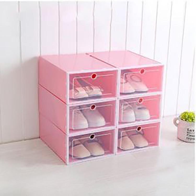 Combo 10 Hộp Đựng Giày Dép Loại 1, Nắp Nhựa Cứng Trong Suốt, Thành hộp dày cùng màu với viền khung, Chịu Lực 4kg - Hàng nhập có sẵn, kích thước 31*21*13