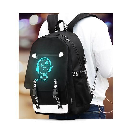 Hình ảnh Balo phát sáng dạ quang, kèm khóa số chống trộm và cổng sạc USB