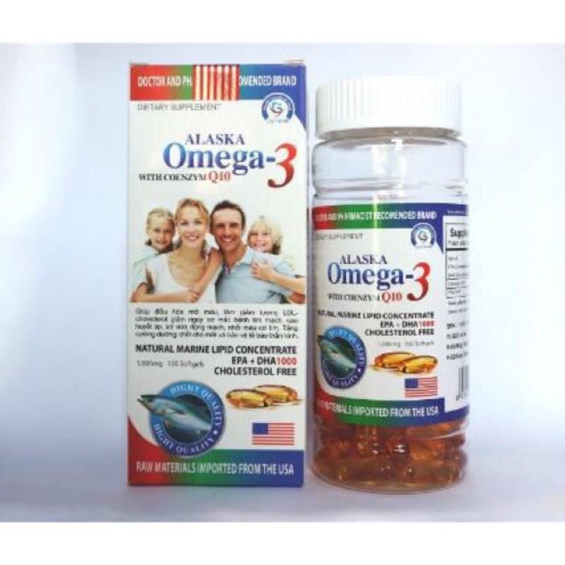 Viên dầu cá Alaska Omega 3 - Chai 100 viên (Omega-3)