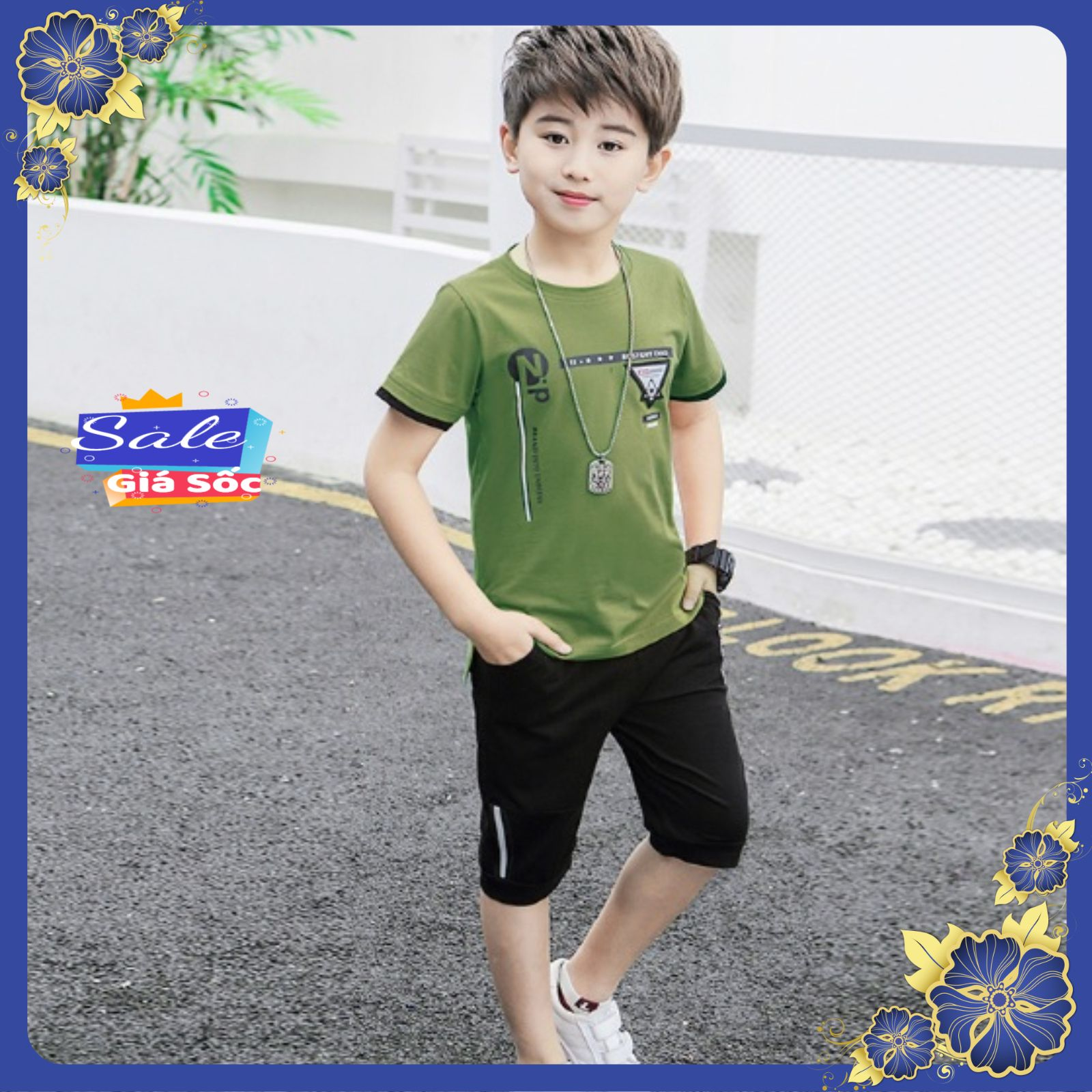 Hình ảnh [Siêu Rẻ] Bộ quần áo cộc tay hè cho bé trai 6-10 tuổi in hình Zip. Chất liệu cotton co giãn 4 chiều, thiết kế đẹp, thoáng mát, thấm hút mồ hôi