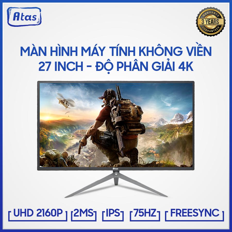 Màn Hình Máy Tính Gaming Atas 27 Inch 4K HD280U - Tần Số Quét 75Hz - Bảo Hành 2 Năm