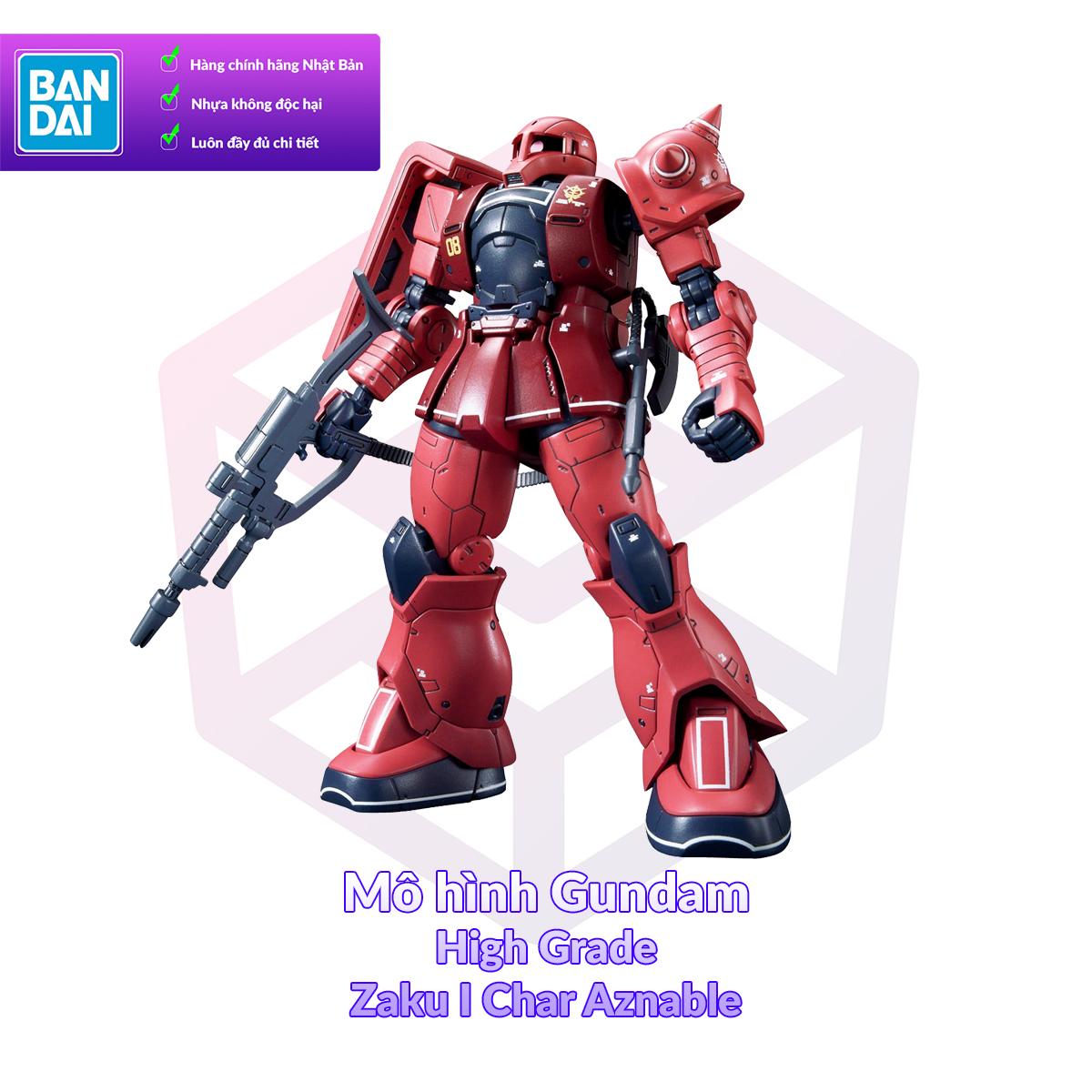 Mô Hình Gundam Bandai HG 13 Zaku I Char Aznable 1/144 GTO [GDB] [BHG]
