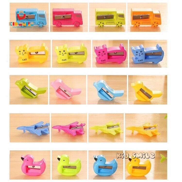 Đồ dùng học tập trẻ em gọt bút chì các hình con vật, phương tiện giao thông. Thiết kế ngộ nghĩnh, dễ thương chất liệu nhựa bền đẹp. 5